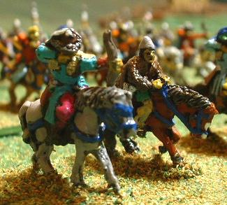 Mongol Light Cavalry ( AS6) with Palmyran Irregular Volunteer Cavalry with bow (Palmyran and Roman range PR5).
