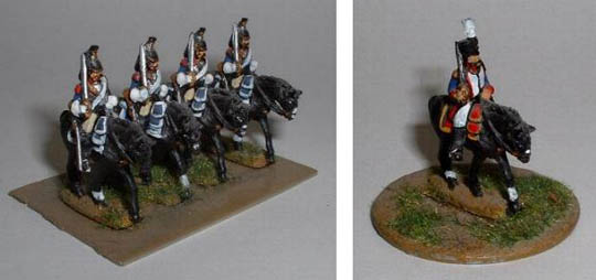 Left: Cuirassier Trooper (NFC11), Right: French Cavalry Colonel (NFC1)
