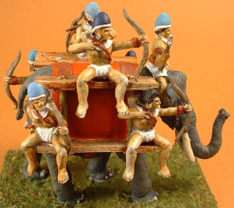 T20 Burmese elephant with driver and six crew
