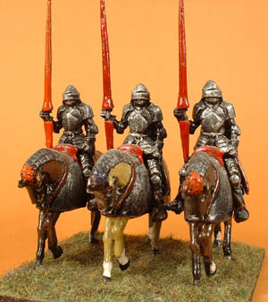 LWM 15 14thC/15thC Mounted Knight with lance