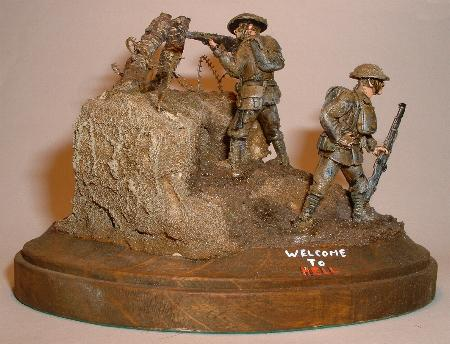 British infantry firing and loading