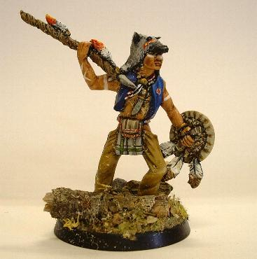 Foot Indian with spear (Colonial and Plains Wars)