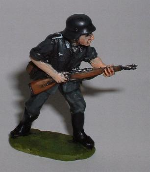 Wehrmacht German Infantry Advancing with Rifle