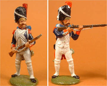 French Old Guard Grenadier at the ready & firing