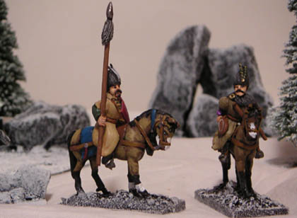 R94 Walachian or Balkan cavalry with lance and shield, R93 Walachian light cavalry with bow
