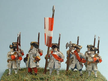 MA5 Musketeer marching, MA10 Infantry Officer, MA6 Pikeman standing with pike upright, MA11 Infantry NCO