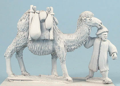 25/52 Bactrian pack camel and attendant